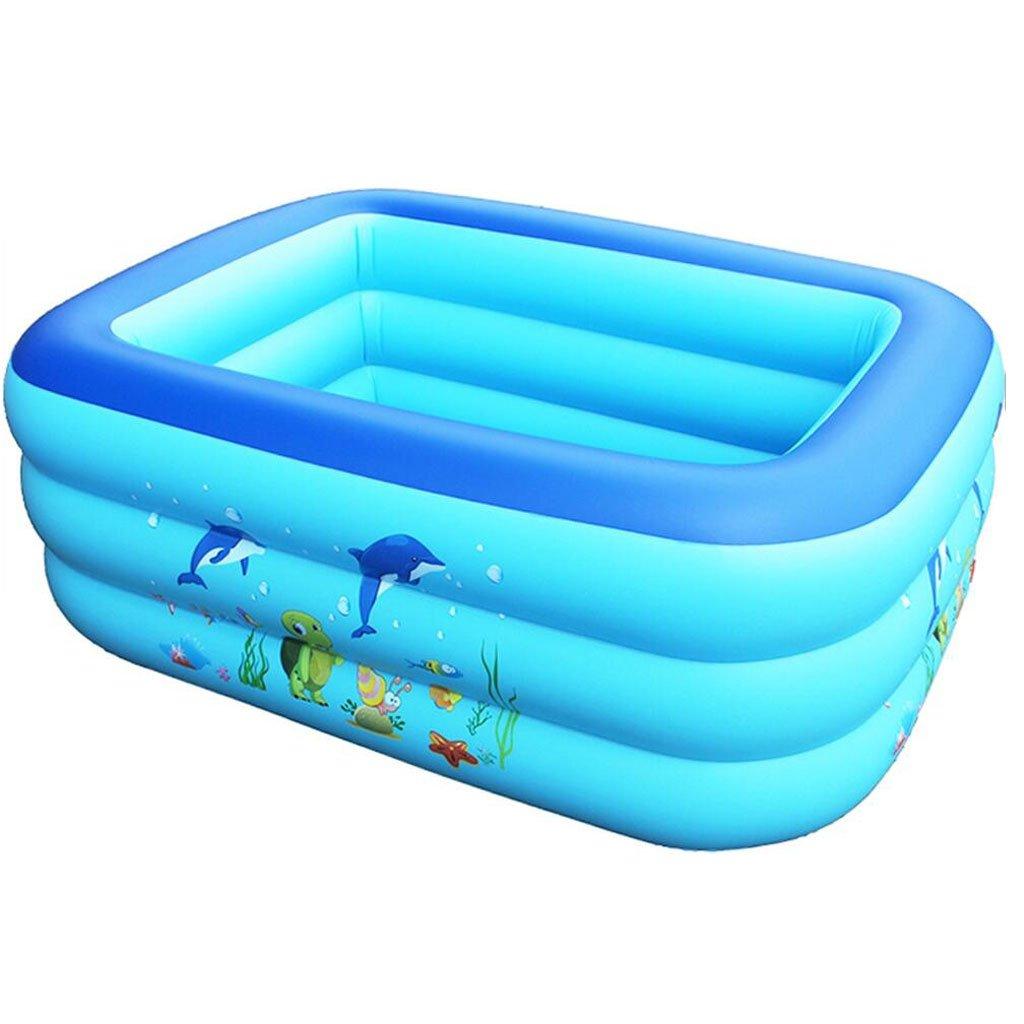 LPYMX,Gepolsterte Badewanne Aufblasbare Pool Baby Kinder Verdickte große Familie Pool Pool Ozean Erwachsenen aufblasbare Badewanne Badewanne (größe   130cm90cm55cm)