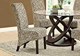 Cheap Monarch Specialties Swirl Fabric High Parson Chair, 40-Inch, Tan, Set of 2