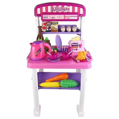 Amazon.com: Roxie Pretend Play Kitchen Toy Set for Kids ...
