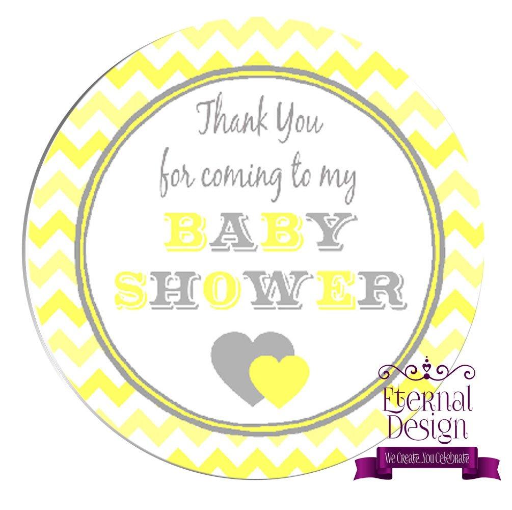 Eternal Design 24 x 45mm Baby Shower White Stickers BSCS 8