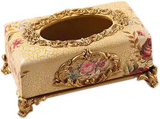 Phoenix Wonder Creativo Resina Caja salón hogar servilleta Tejido Cajas de pañuelos, C Oro: Amazon.es: Hogar