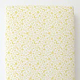 Carousel Designs Banana Yellow Moon and Stars Toddler Bed Sheet Fitted