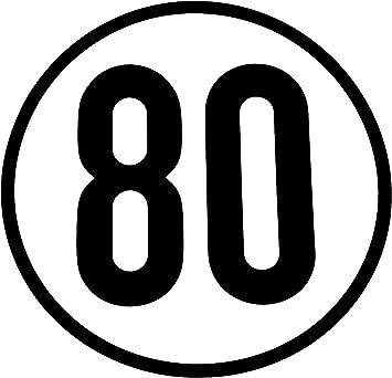 Wamo Geschwindigkeitsschild 80km H Auto