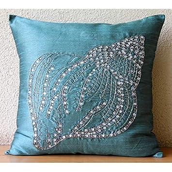 Klear Vu Liza Throw Pillows, 2 Pack, Blue