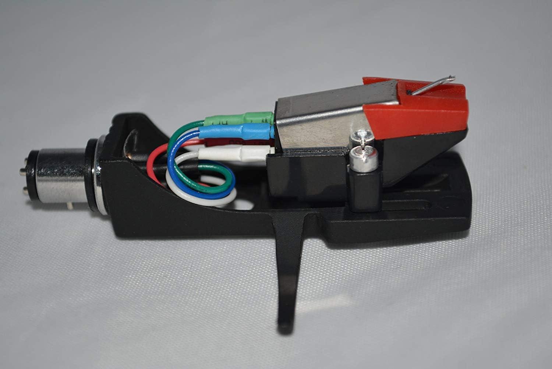 Negro Portac/ápsulas Tocadiscos Soporte con Cartucho para Denon Dp 500M Dp A100 Dp 1300 Mk2 Dp 300F Dp 60L Dp 1200 Tocadiscos Dp 1100