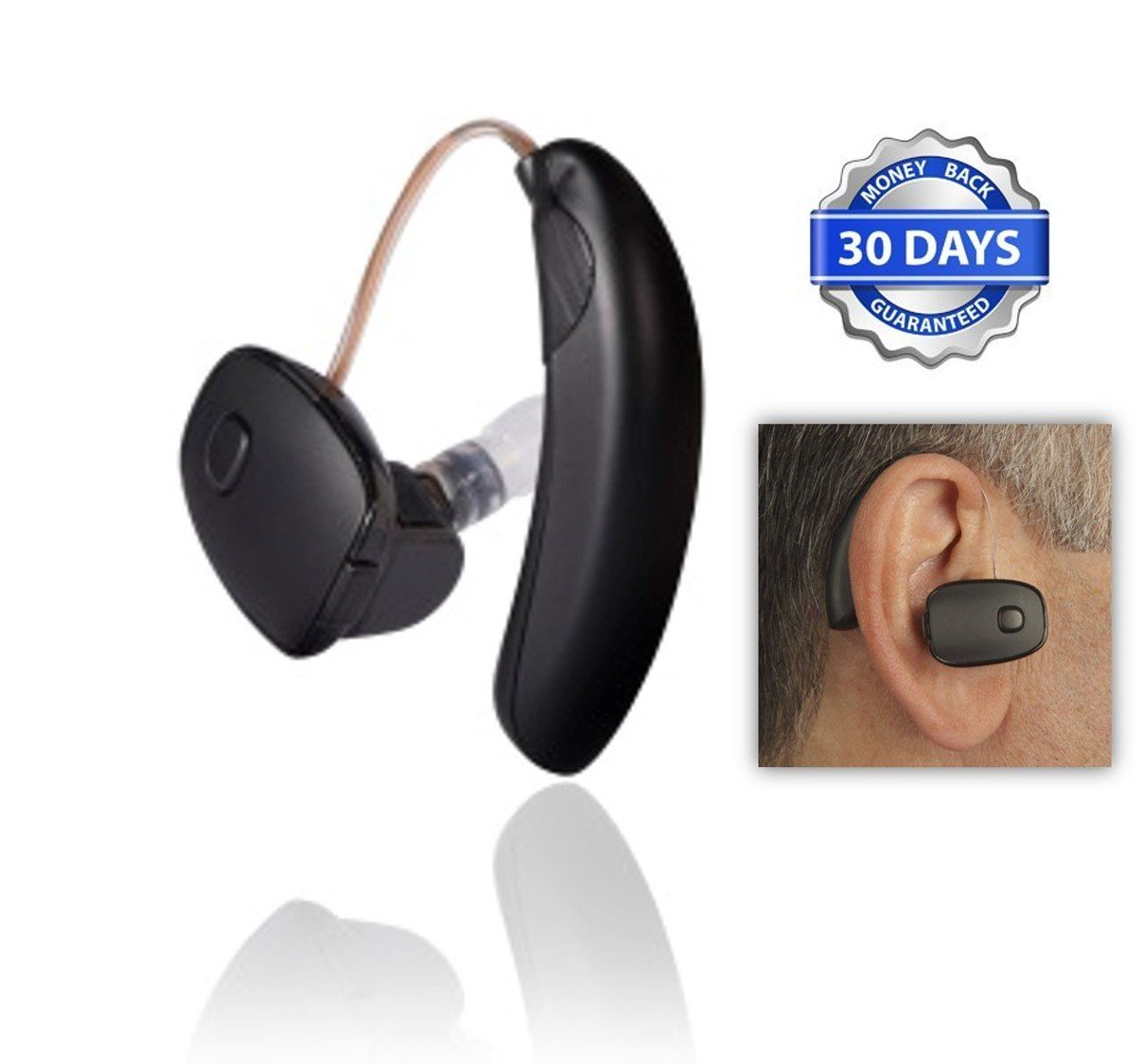 Sound World Solutions CS50 - Now with 1 FREE Additional Battery and LIBERTY Cleaning Cloth (Left Ear)