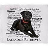 "CafePress Black Lab Traits Throw Blanket Soft Fleece Throw Blanket, 50""x60"" Stadium Blanket"