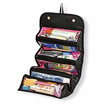 Amazoncom Hgtai Zipper Pouch Toiletry Organizer Roll N Go Roll Up