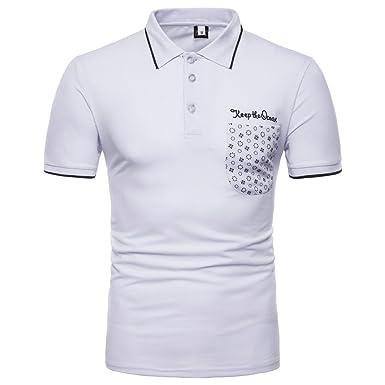 Cebbay Polos Slim fit y Transpirable Camisas Manga Corta Camisetas ...