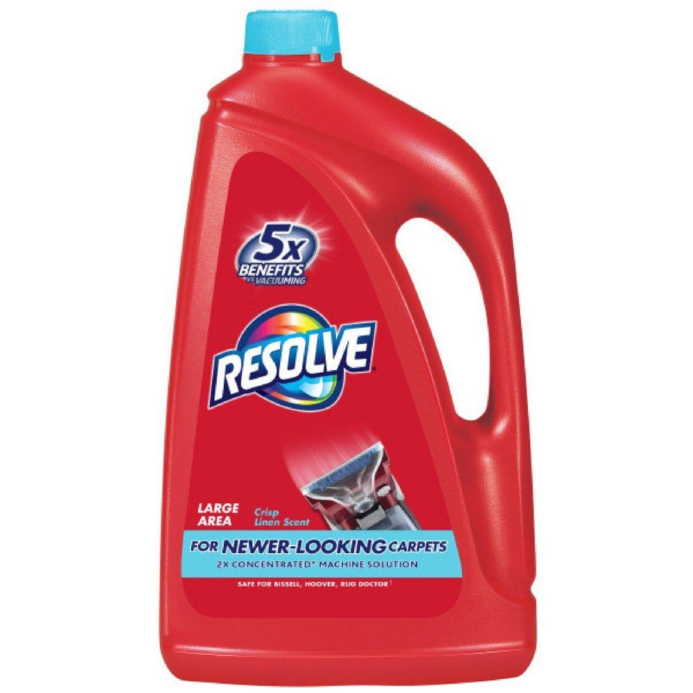Resolve Carpet Steam Cleaner Solution, Crisp Linen 60 fl oz Bottle, 2X Concentrate (Pack of 2) by Resolve