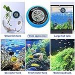 POPETPOP LCD Digital Aquarium Thermometer High Precision Digital Fish Tank Thermometer for Aquarium/Pond/Reptile Turtles Habitats (Blue) 15