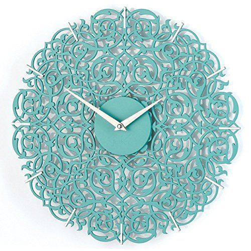 Moroccan decor, turquoise wall clock art