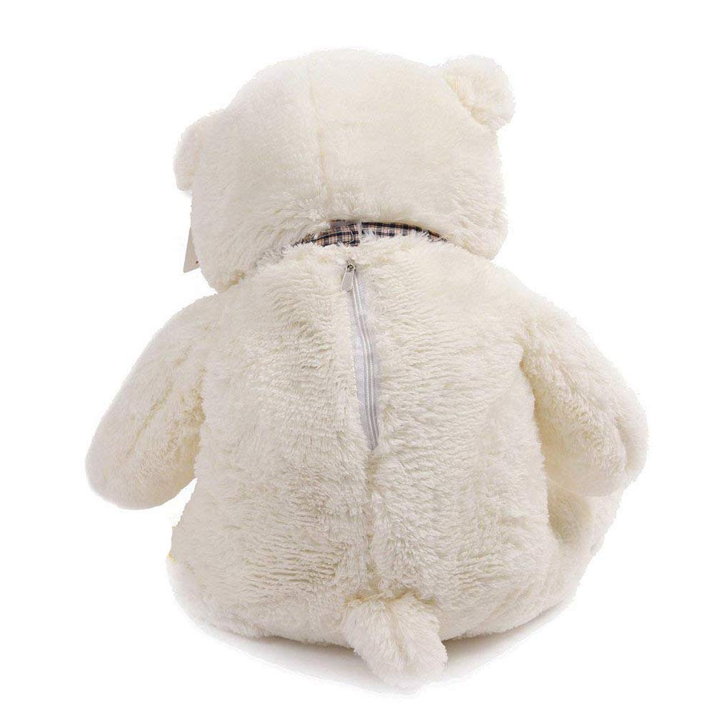 QIANGUANG Almohada Gigante Oso de Peluche Oso de Peluche Blanco Grande de 120 cm XXL