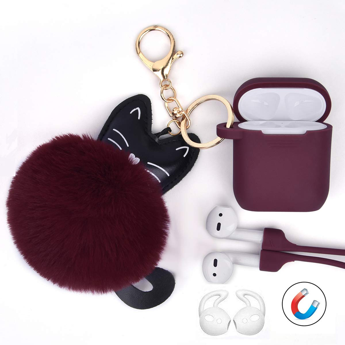 Amazon.com: Airpods Case - Funda de silicona para Airpods ...