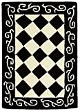 Transitional Rug – Chelsea -Black/Ivory Black/Ivory/Transitional/1'8″ x 2'6″/Accent For Sale