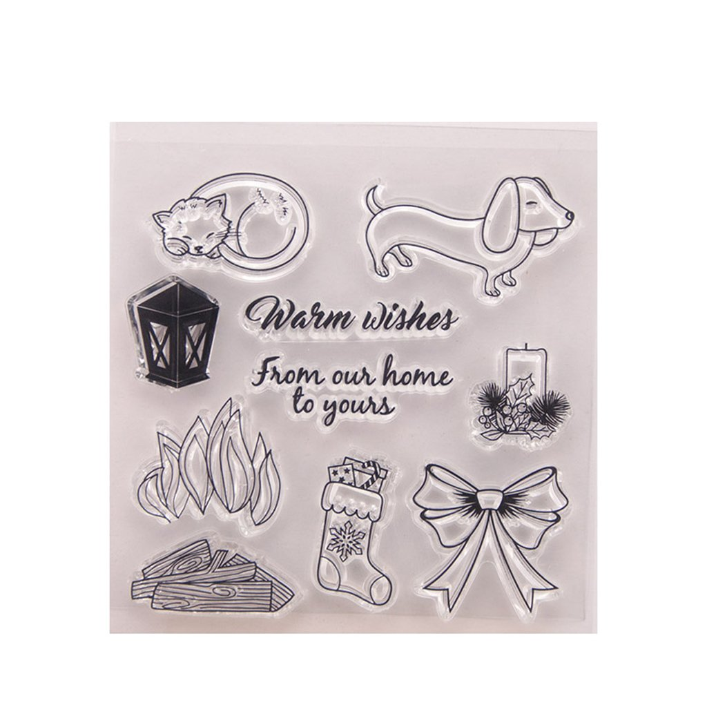 Kofun DIY Scrapbooking Transparent Stamps Silicone Rubber Clear Sheet DIY Card Gift Crafts Butterfly