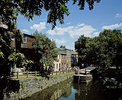 24 x 36 Giclee print of Boat traveling on the Chesapeake and Ohio Canal picks up tourist in the Georgetown neighborhood of Washington D.C. r71 [between 1980 and 2006] by Highsmith, Carol M., (Best Neighborhoods In Washington Dc For Tourists)