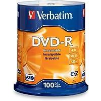 Verbatim 97460 Disco Grabable DVD-R, 4.7 GB, hasta 16x, Torre de 100 Unidades