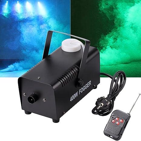 UKing Máquina de humo 500W LED Negro RGB Control Remoto Buena Atmósfera para Varios Festivales Party