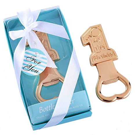 Yuokwer Pack Of 24 My 1st Birthday Baby Party Decoration Bottle Opener First Souvenir