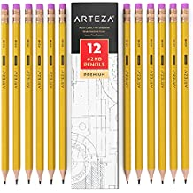 ARTEZA #2 HB Wood-Cased Pencils - Pre-Sharpened - Latex Free Erasers - (Box of 12)