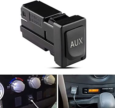 Aux Port for Toyota 86190-02010 Auxiliary Input Jack Adapter Replacement Audio Input Jack Radio Kit Car Repair Parts for Corolla Tundra Camry RAV4 Tacoma Highlander Sienna Matrix Venza 2007-2015