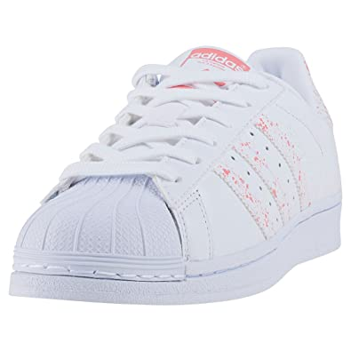 Adidas Superstar W, Chaussures de Fitness Femme, Multicolore-Blanc/Rose Ftwbla/