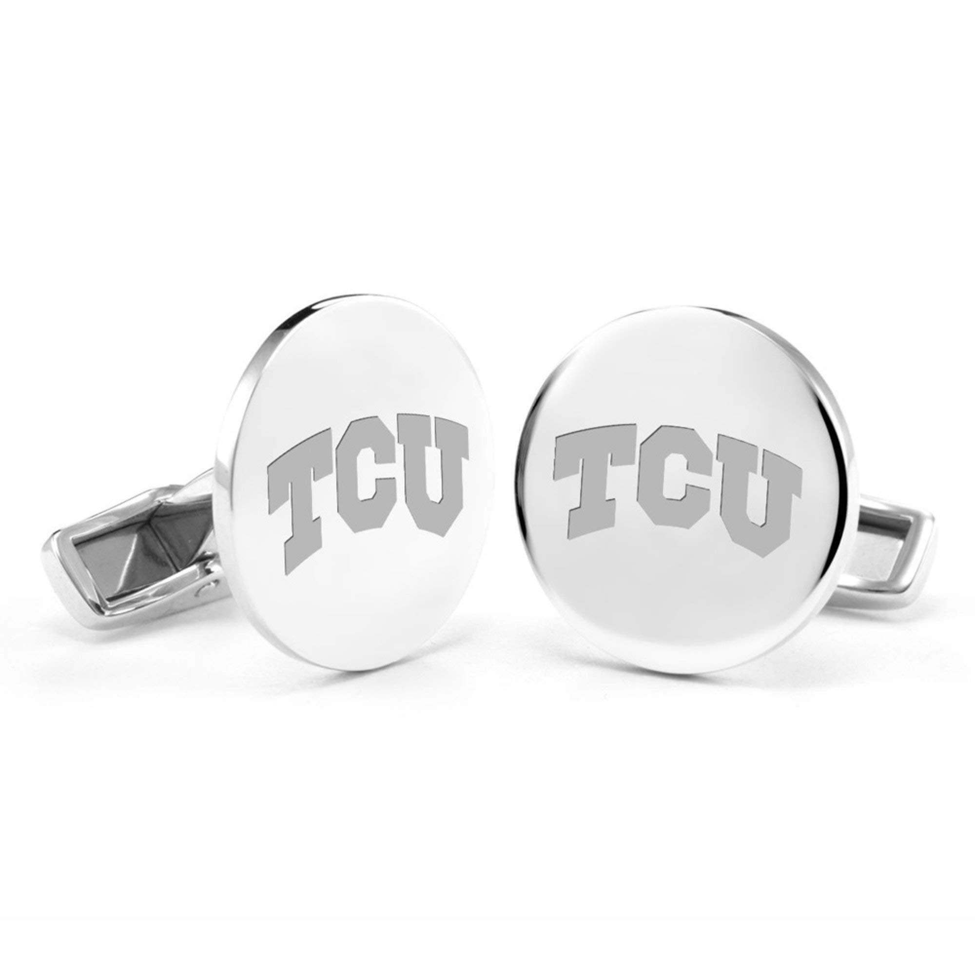 M. LA HART Texas Christian University Cufflinks in Sterling Silver