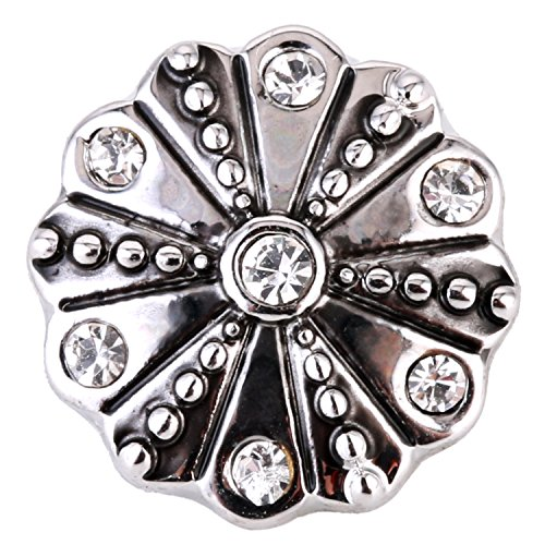 Morella ® pour petit click-button lot de 5 boutons pression 12 mm ø fleur de lis avec des ornements okaia