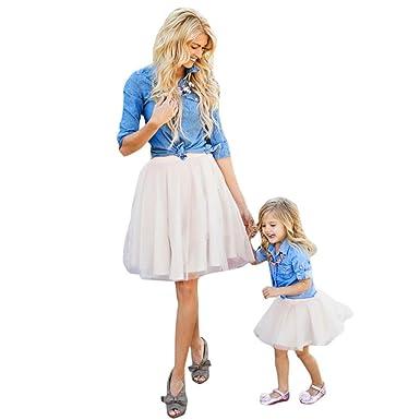 Xmansky Xmansky Familie Collocation Kleidung Mutter Tochter Denim T ...