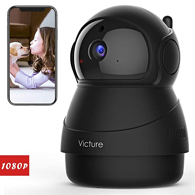 Victure 1080P FHD WiFi IP Camera Indoor Wireless Security Camera Motion Detection Night Vision Home Surveillance Monitor 2-Way Audio Baby/Pet/Elder best home security IP camera