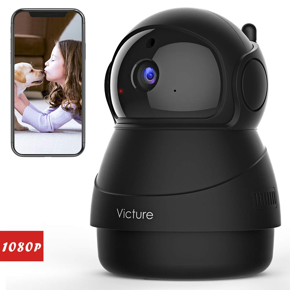 Victure Caméra de Surveillance,1080P Caméra WiFi sans Fil, Caméra Dome IP Intérieur, Vision Nocturne, Détection de Mouvement, 2 Way Audio, Pan / Tilt / Zoom pour Bébé /Aîné /Animal product image
