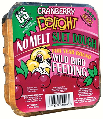 C & S PRODUCTS CO INC Wild Bird Suet Dough Cake, Cranberry Delight, 11.75-oz. C And S Products Co Inc P BC428482