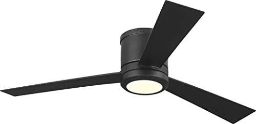 Monte Carlo 3CLYR52OZD-V1 Clarity 52 Hugger Fan with LED Light and Remote, 3 Blades, Oil Rubbed Bronze
