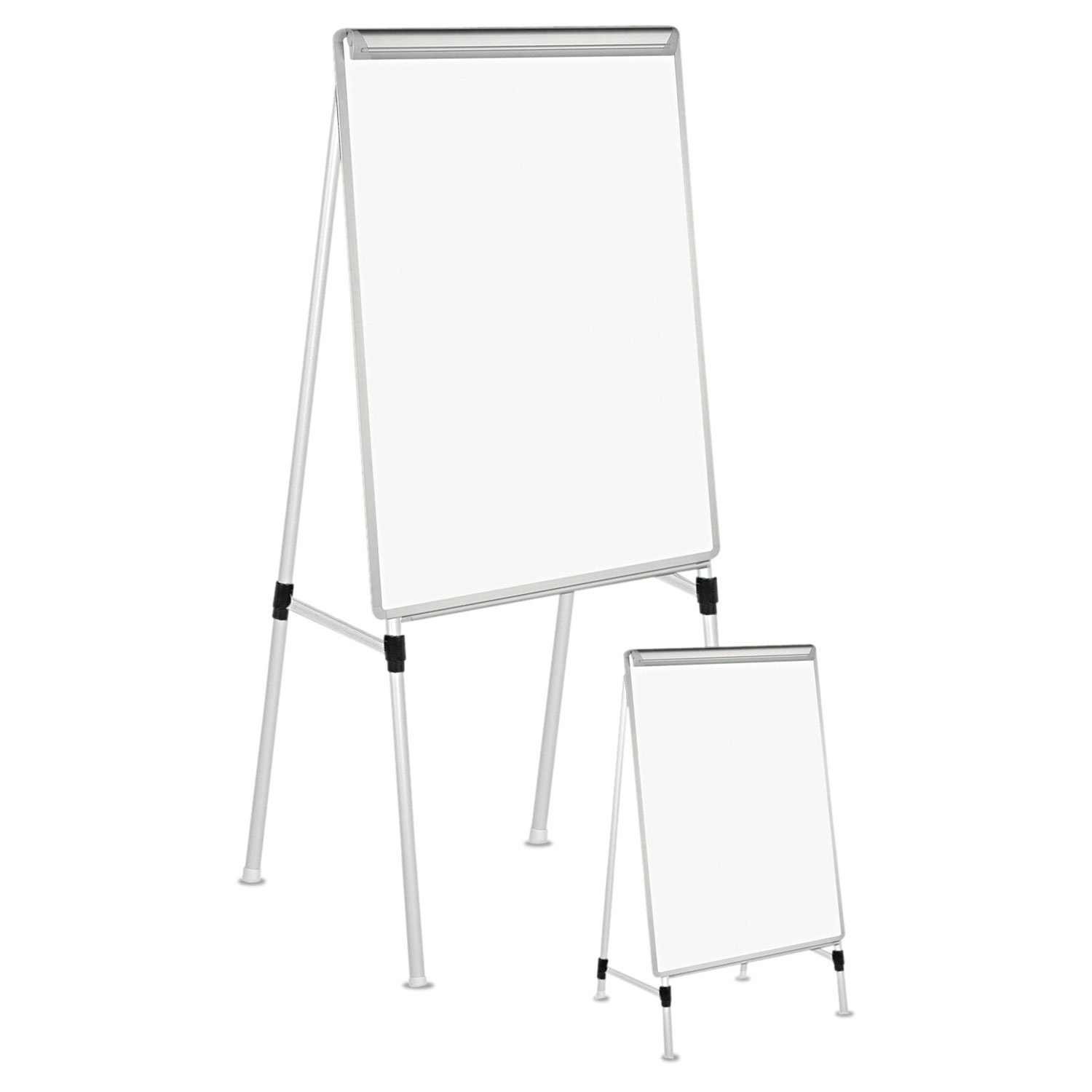 Universal 43033 Adjustable White Board Easel, 29 x 41, White/Silver by TableTop King