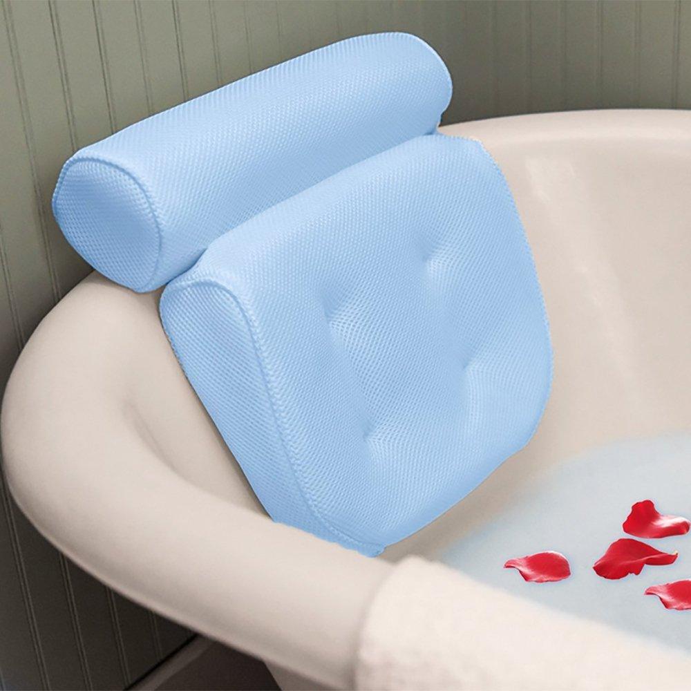 Bath Pillow Spa Kissen Extra Dick, Weich Und Groß Für Badewanne, Whirlpool, Jacuzzi, Home Spa Anti-Rutsch-Unterstützung Für Kopf, Hals, Rücken Und Schultern Rücken Und Schultern Bathroom pillows