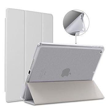 GOOJODOQ Funda iPad Air 1,Elegante Ultra Liviana y Delgada con función de Reposo/Reposo automático Cuero de la PU Silicona Suave TPU Translúcido ...
