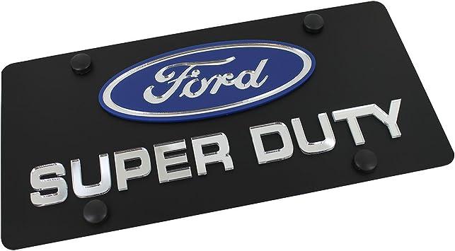 Eurosport Daytona Stainless Steel Ford F250 Black Badge License Plate Frame 3D Novelty Tag
