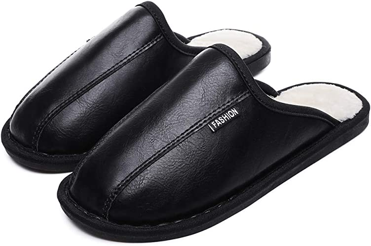 MENS BROWN HARD WEARING  INDOOR//OUTDOOR PU COSY MOCCASINS SLIPPERS SIZES 8,10