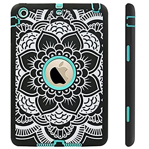 iPad Mini Case,iPad Mini 2 Case,iPad Mini 3 Case,Adela Shop Ultra Slim Fit Bumper Hard Case 3in1 Shockproof for Apple iPad Mini 1/2/3 [Full Body Protective] Lightweight with Pc & Silicone,Center (Hard Cases Ipad Mini)