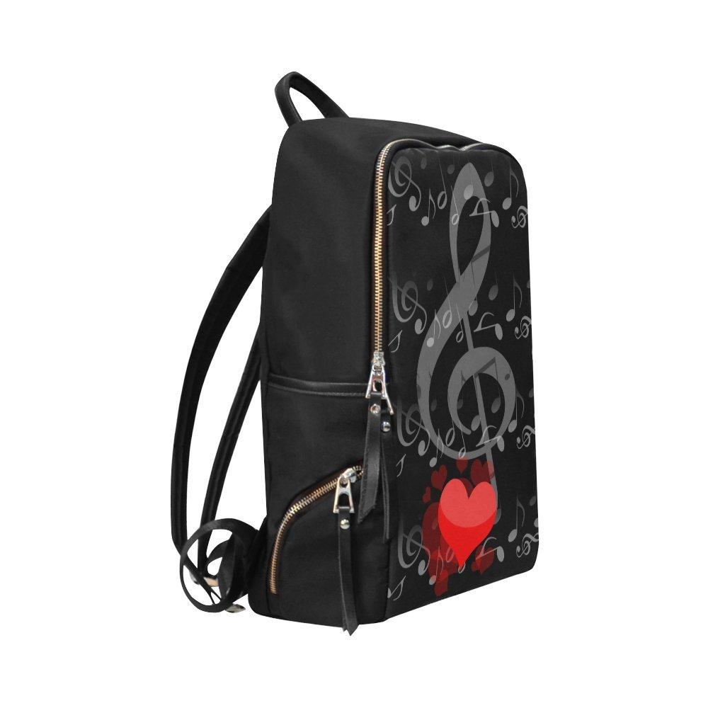 InterestPrint Music Notes Love School Casual Travel Backpack School Bag Travel Daypack by InterestPrint (Image #2)