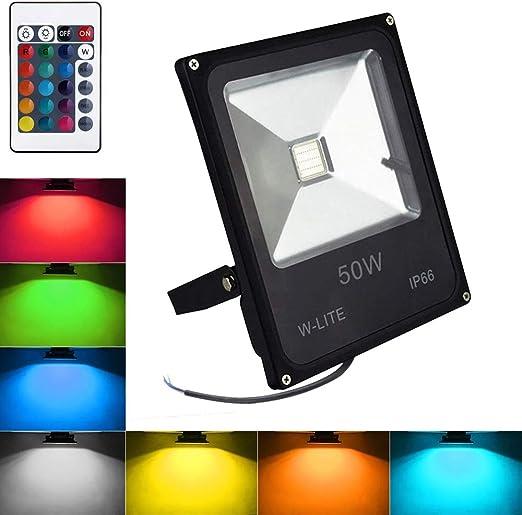 Foco exterior RGB de decoración Impermeable, Proyector Decorativo ...