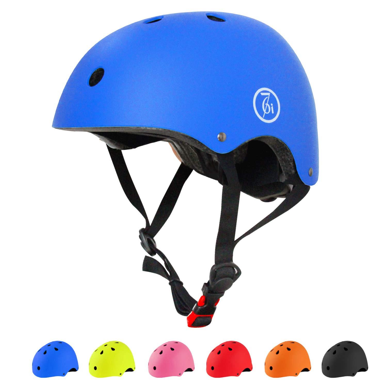 67i Adult Skateboard Helmet CPSC Certified Adult Bike Helmet Adjustable and Protection for Multi-Sports Cycling Skateboarding Scooter Roller Skate Inline Skating Rollerblading Longboard (Blue)