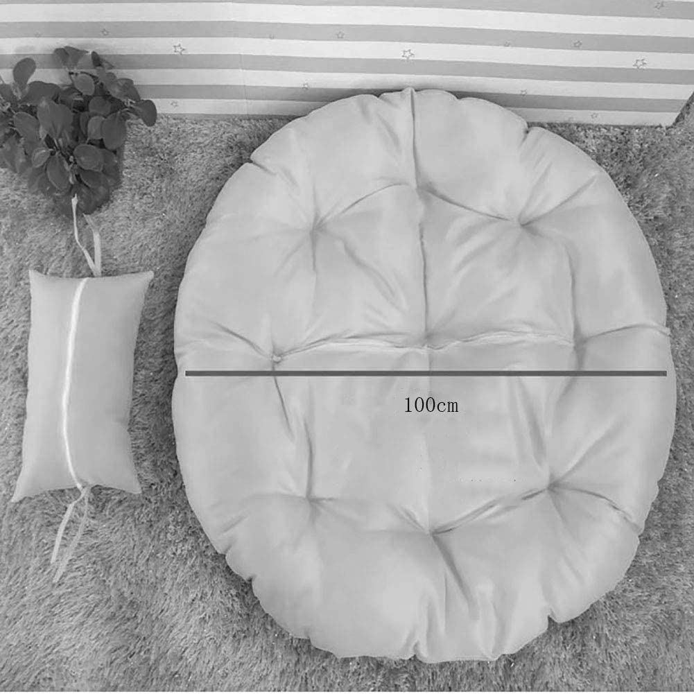 Nobrand amaca antiscivolo diametro 100 cm per casa e cortile accogliente rotondo cuscino per sedia a dondolo in rattan