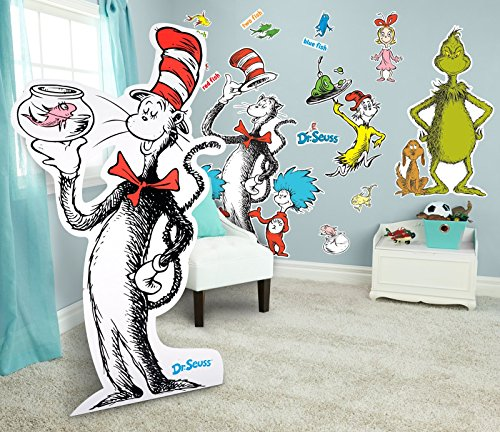 Dr Seuss Room Decorations Giant Wall Decals and Standup Kit