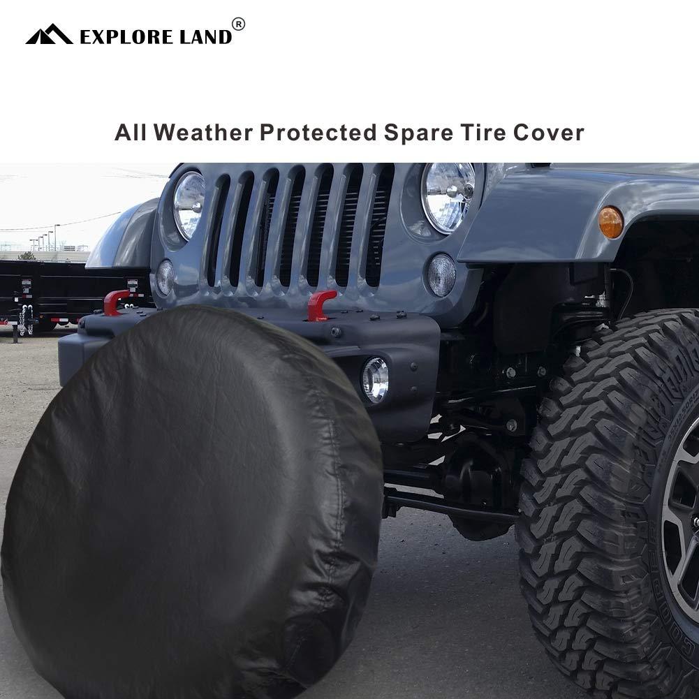 Fasmov Wheel Tire Cover Liberty Spare Tire Cover,Black 27 inches-30 inches