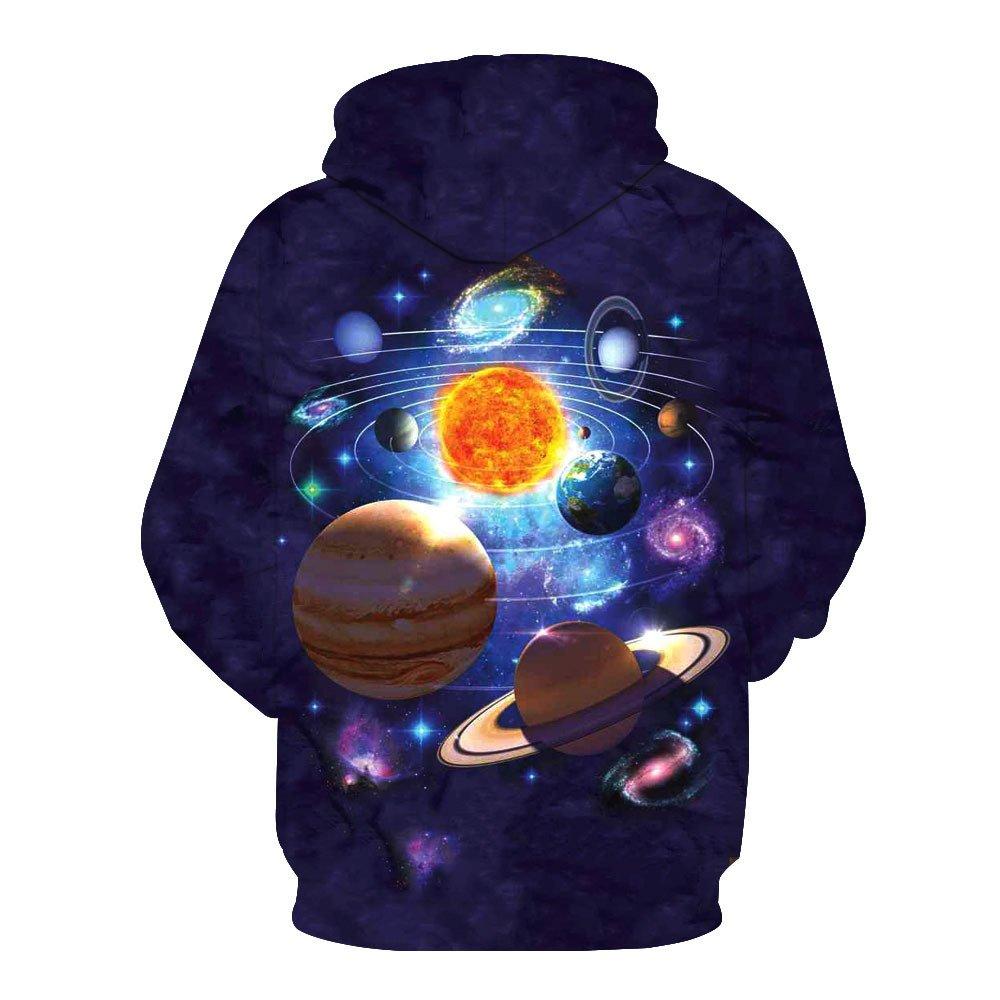 0de3eb75a9f1 Amazon.com  Men Women Hoodies Pullover 3D HD Solar Galaxy Print Unisex  Couple Long Sleeve Sweatshirts Uniform Jumpers Outdoor Leisure S-3XL  Home  ...
