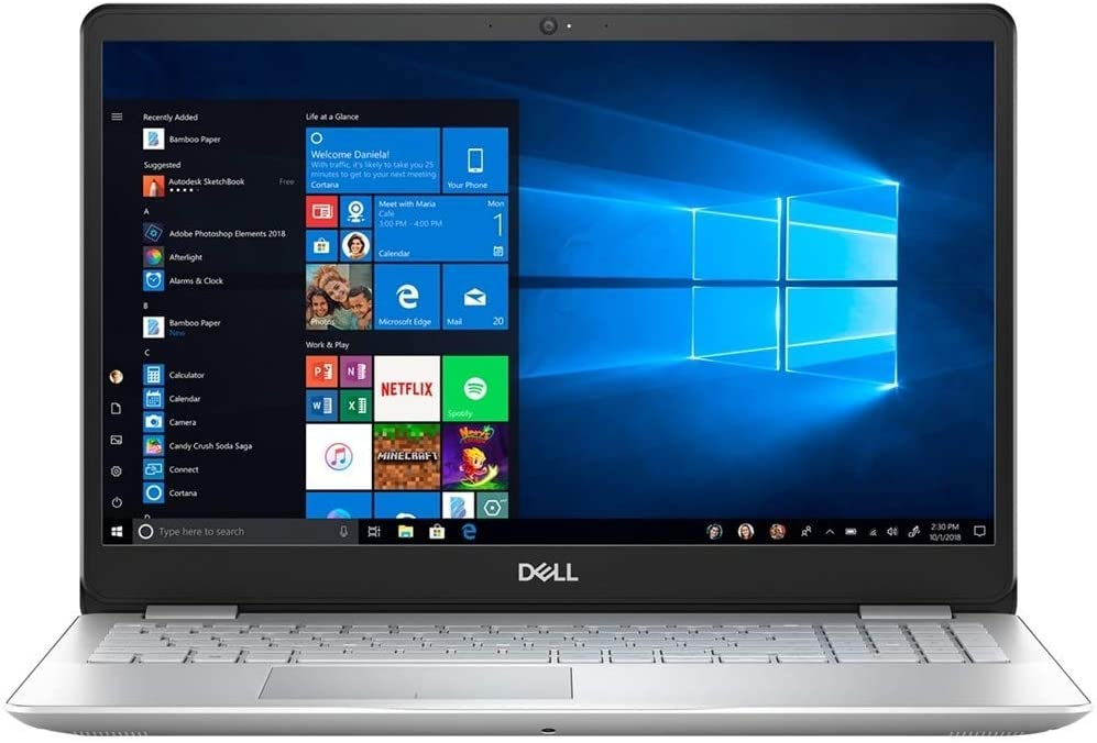 "Dell Inspiron 15 5584 Laptop, 15.6"" Screen, Intel Core i7, 8GB Memory, 256GB Solid State Drive, Windows 10, I5584-7851SLV-PUS (Renewed)"