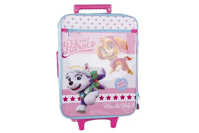 Maleta semirrígida PAW PATROL PUPS rosa mini equipaje de mano ryanair VS111