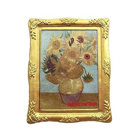 3D Holland Van Gogh Pintura Girasoles Refrigerador Imán de Nevera ...